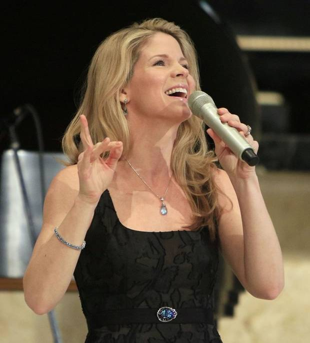 Tony Award Winner Kelli O'Hara sings during an Esther Women luncheon at St. Luke's United Methodist Church in Oklahoma City, OK, Tuesday, December 1, 2015. [The Oklahoman Archives]