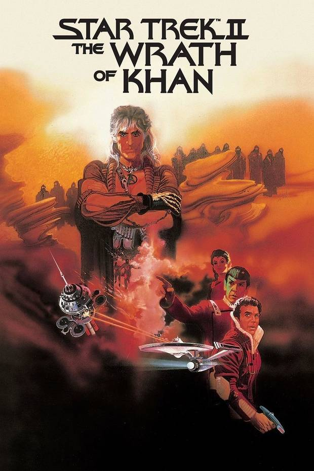 "The 1982 film ""Star Trek II: The Wrath of Khan"" will be screened prior to an appearance and Q&A by William Shatner Friday at Norman's Riverwind Casino [Paramount Pictures poster image]"