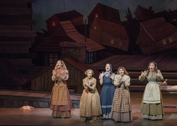 Last year, Lyric's 'Fiddler on the Roof,' with the help of Allied Arts and the National Endowment for the Arts, included deaf cast members and American Sign Language. Photo provided.