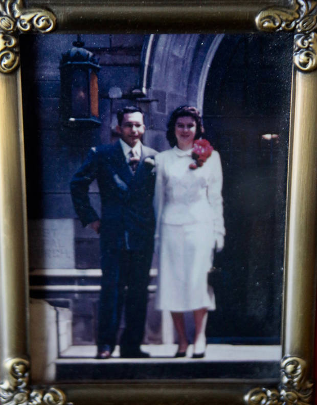 The Kietzman's at their wedding day in 1951. Photo provided.