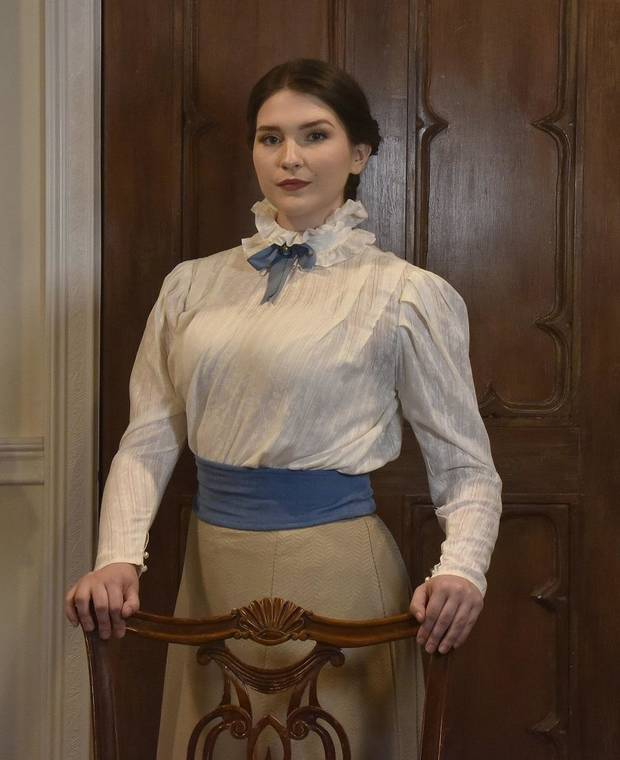 "Avery Carlson stars in Oklahoma City Repertory Theatre's Oklahoma premiere production of ""A Doll's House, Part 2."" [Mutz Photography]"