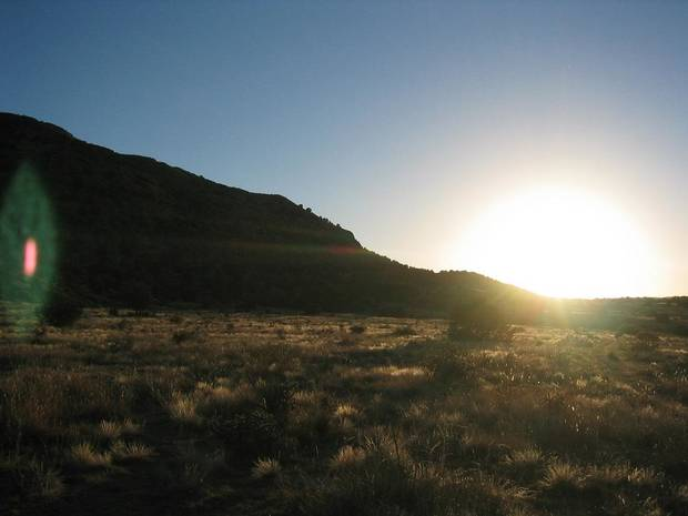 Black Mesa near Kenton in the Oklahoma Panhandle is seen at sunset. [The Oklahoman Archives]