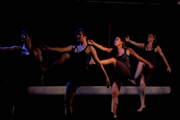"""At the 2019 Theatre Crude Fringe Festival, Perpetual Motion Dance performs """"Water Won't Wait."""" [Photo by Abby Welch]"""
