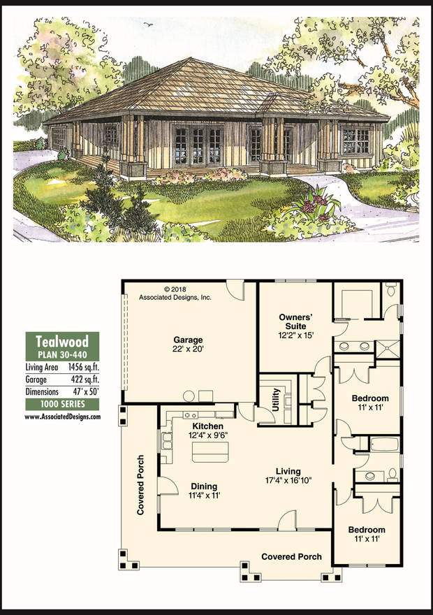 The Oklahoman's house plan for May 19, 2018, the Tealwood