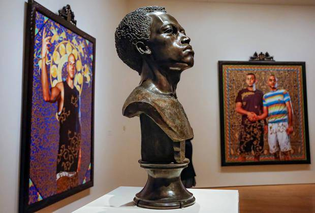 "The sculpture ""Likunt Daniel Ailin"" by artist Kehinde Wiley is on view in the exhibit ""Kehinde Wiley: A New Republic"" at the Oklahoma City Museum of Art in Oklahoma City. Photo by Chris Landsberger, The Oklahoman"