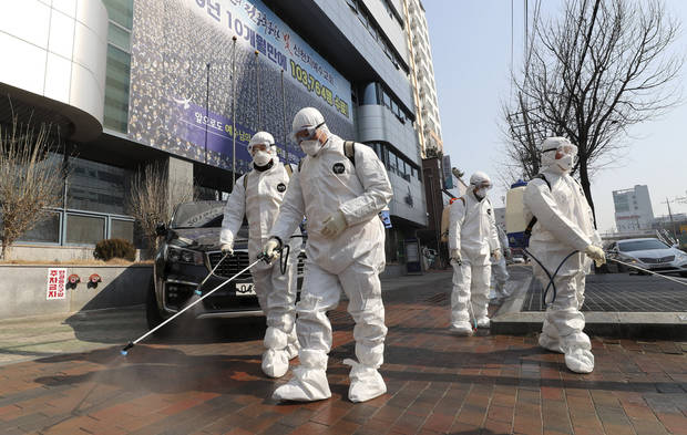 S Korea reports 1st virus death as 2.5M urged to stay home