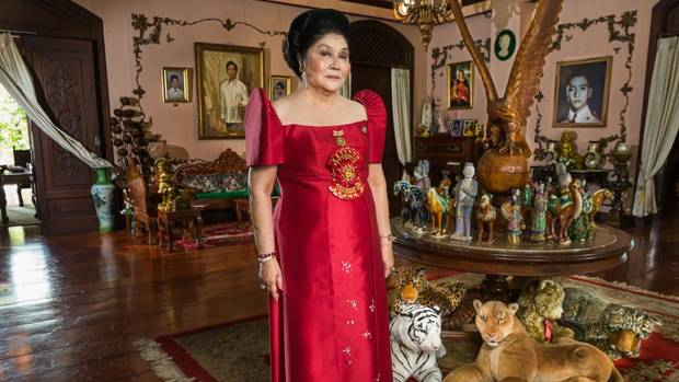 "Imelda Marcos appears in the documentary ""The Kingmaker."" [Lauren Greenfield/Evergreen Pictures]"