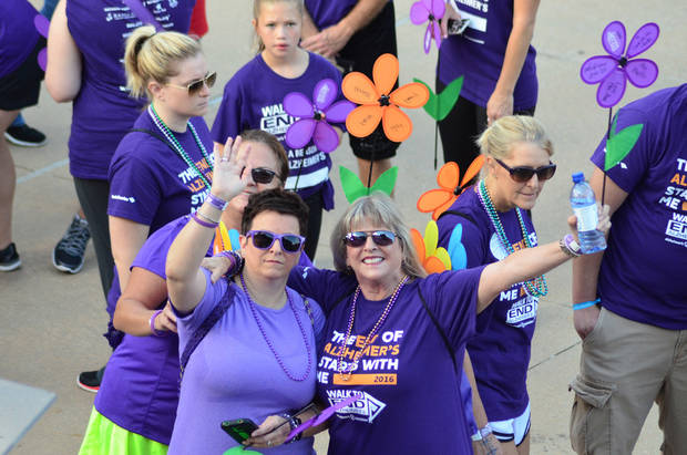 Participants during last year's event. Oklahoma City is getting ready to Walk to End Alzheimer's. Photo provided.