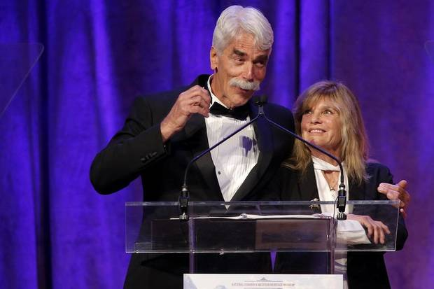 Sam Elliott and Katharine Ross take the stage during the National Cowboy & Western Heritage Museum's Western Heritage Awards in Oklahoma City. [Photo by Bryan Terry, The Oklahoman]