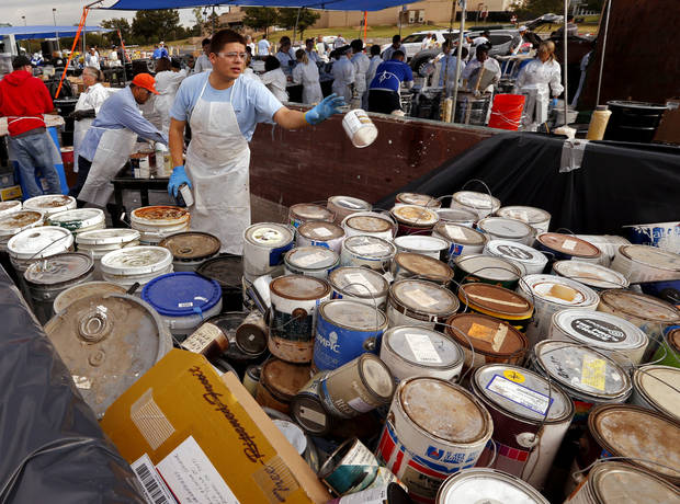Oklahoma City hazardous material collection event called off due to storms Saturday