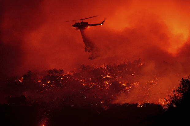 Most people who fled California wildfire allowed to go home