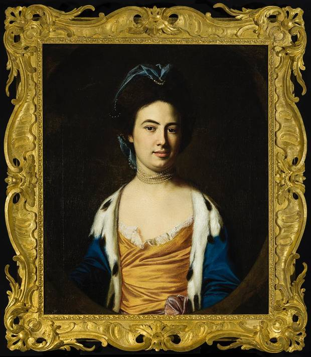 "The Oklahoma City Museum of Art's newest acquisition, the 1769 painting ""Anne Boutineau Robinson"" by John Singleton Copley, was acquired in November in memory of lifetime museum trustee James C. Meade, and highlights the reinstalled Portraiture gallery of the permanent collection exhibition ""From the Golden Age to the Moving Image."" [Image provided]"