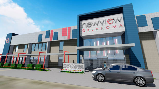 Artists drawing shows the soon-to-be new home of NewView Oklahoma.
