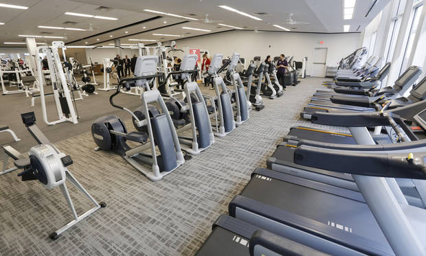 Exercise machines at the ribbon cutting ceremony for the new Main Street branch of the Greater YMCA of Oklahoma City, Monday, March 30, 2015. Photo by Doug Hoke, The Oklahoman
