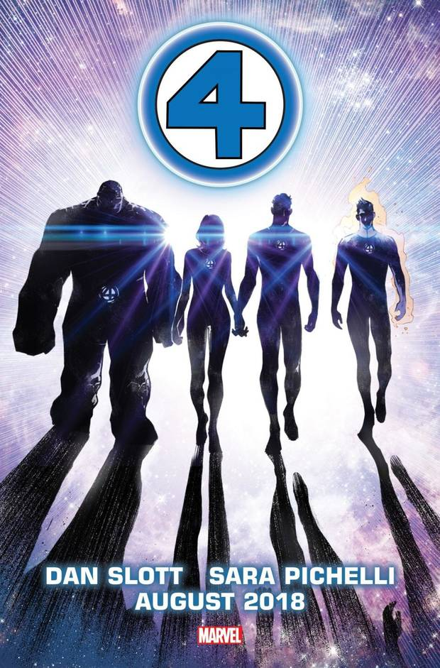 Promotional art for the new Fantastic Four series. [Marvel]