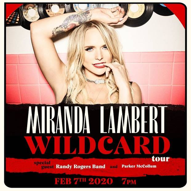 "Miranda Lambert has announced a 2020 Tulsa date on her ""Wildcard Tour."" [Poster image provided]"