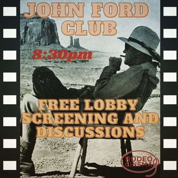 Rodeo Cinema, Oklahoma City's nonprofit independent cinema in Stockyards City, is launching free monthly screening series paying homage to esteemed directors John Ford and Alfred Hitchcock. [Poster provided]