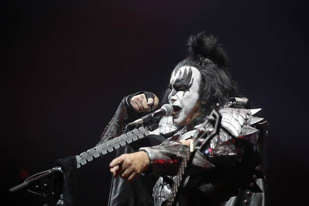 "Gene Simmons with KISS performs during the band's ""End of the Road World Tour"" at Chesapeake Energy Arena in Oklahoma City, Tuesday, Feb. 26, 2019. [Bryan Terry/The Oklahoman Archives]"