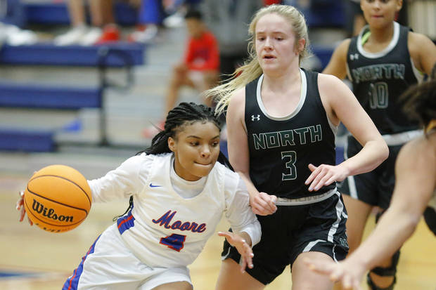 High school basketball: Aaliyah Moore, Ashanti Day pace Moore past Norman North