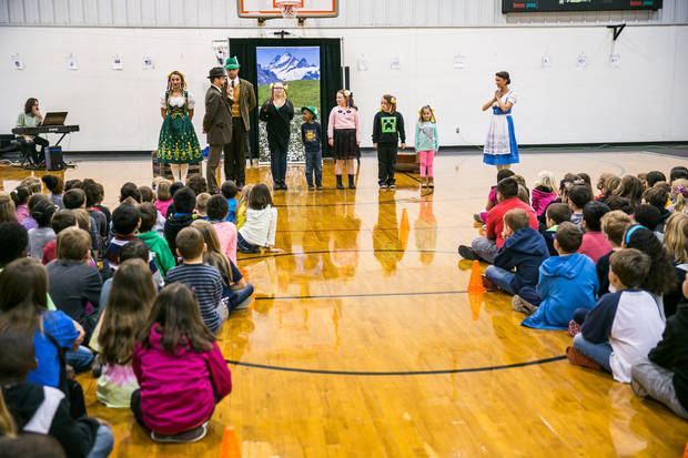 The Lyric Theater visiting a local elementary school. Photo provided by Lyric Theatre.