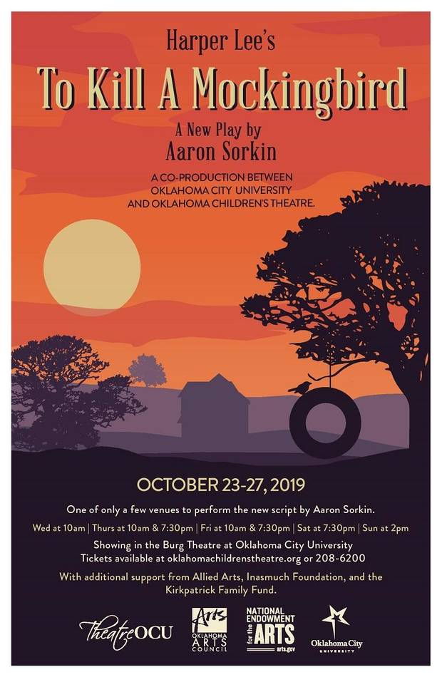 "Oklahoma City University is one of just a few places in the country where audiences can see a theater adaptation of the classic novel ""To Kill a Mockingbird"" this fall - apart from Broadway [Poster image provided]"