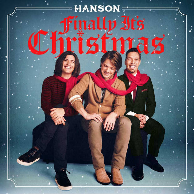 "Tulsa-based pop-rock trio Hanson have announced the Oct. 27 release of their long-awaited new holiday album ""Finally It's Christmas"" (3CG Records / S-Curve Records). Album cover art provided"