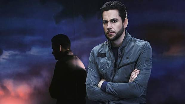 "Zachary Levi appears in a promotional image for ""Heroes Reborn."" [NBC photo]"