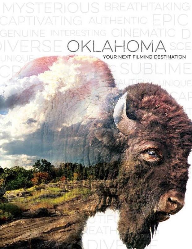 Cover of the OF+MO 78-page Look Book that highlights all the things Oklahoma has to offer filmmakers.