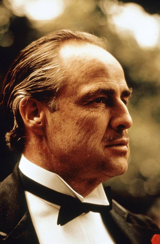"Marlon Brando is shown in a scene from ""The Godfather."" [Paramount Pictures photo]"