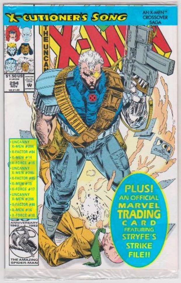 "Uncanny X-Men #294 kicked off the storyline ""X-Cutioner's Song"" in 1992. [Marvel]"