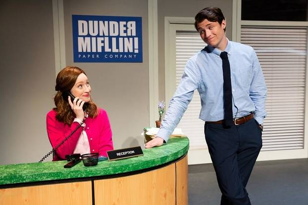 "Madeline Glenn Thomas and Patrick Constant star in the national tour of ""The Office! A Musical Parody."" [Jeremy Daniels photo]"