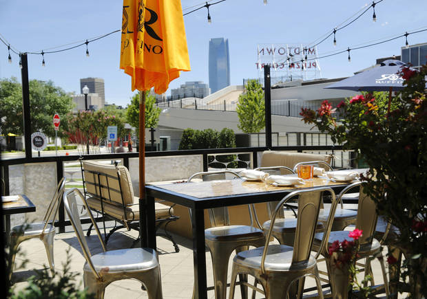 The outdoor patio at Stella Modern Italian will open Friday. [Oklahoman Archives]