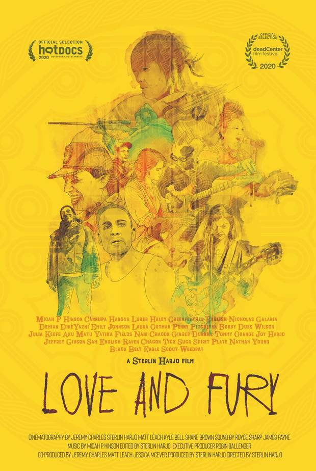 "Oklahoma Native American filmmaker Sterlin Harjo followed almost two dozen Indigenous artists for his new documentary ""Love and Fury."" [Poster provided]"