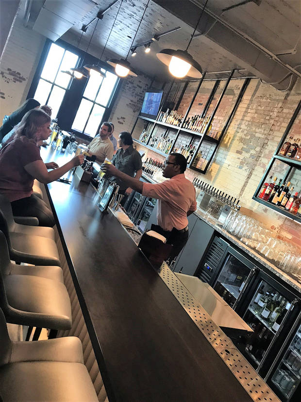 The upstairs bar Parlor OKC, which is now open in downtown Oklahoma City. [Dave Cathey/The Oklahoman]