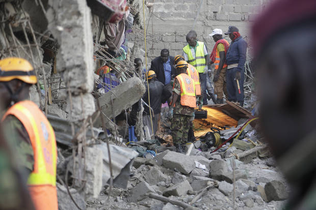 Kenya building collapse toll hits 10 but 2 survivors found