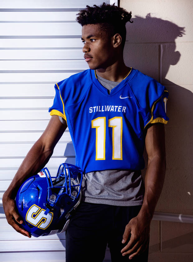 Stillwater High School cornerback Tevin Williams poses for a photo on Wednesday, June 24, 2020, in Stillwater, Okla. [Chris Landsberger/The Oklahoman]