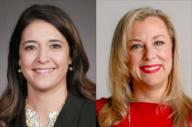 Candidates for the 5th District Congressional seat Stephanie Bice (R-Oklahoma City), left, and Kendra Horn (D-Oklahoma City). [Oklahoman File photos]