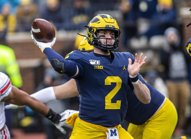 Undrafted Michigan QB Patterson reaches deal with Chiefs