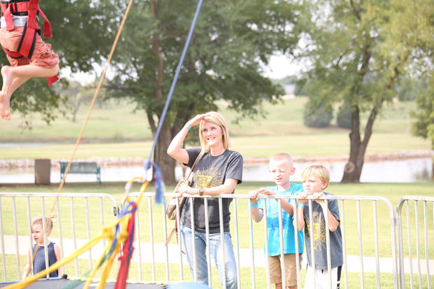 American Fidelity manager of Worksite Group Strategy and Training Jessica Sanders enjoys time with her family at American Fildeity's annual Famboree. Photo: American Fidelity