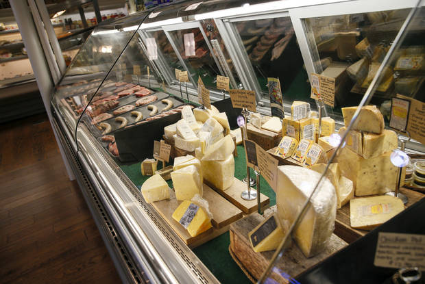 The cheese and meat case at Urban Agrarian, 1 E Main St., in Edmond. [Nate Billings/The Oklahoman]