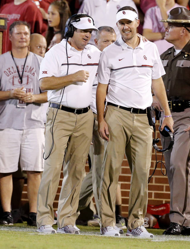 Image result for lincoln riley and bob stoops