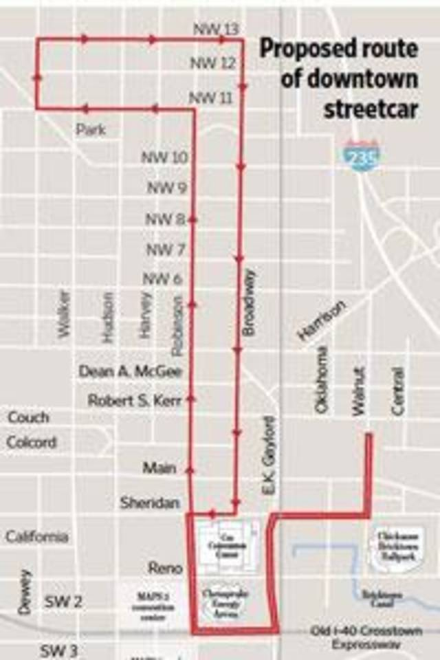Maps 3 Streetcar Preferred Route Presented To Oklahoma