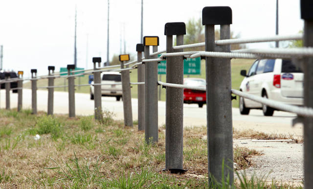 Cable barriers credited for drop in oklahoma crossover