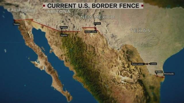 president trump wants a wall along the border with mexico