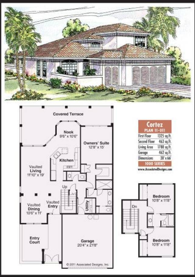 House plan the cortez offers zero lot line options news ok for Zero lot house plans