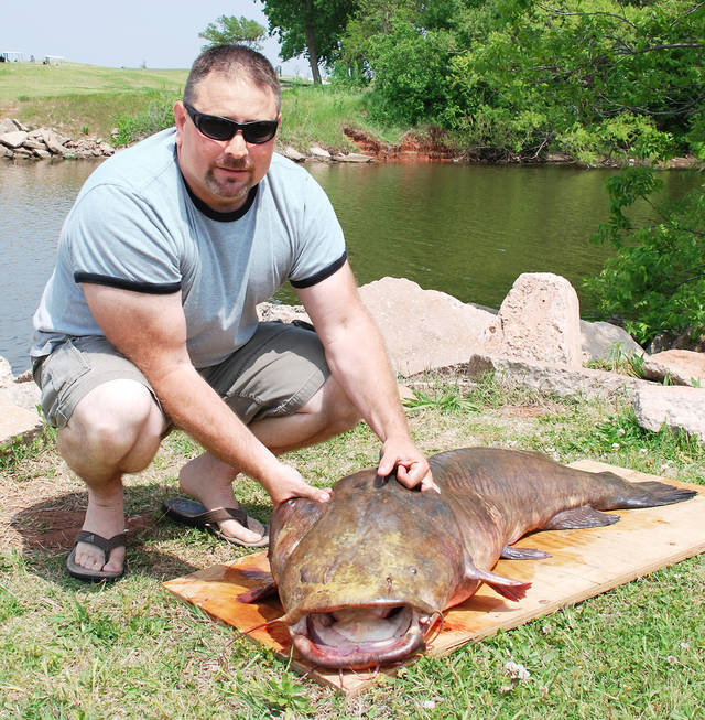 Record flathead catfish caught in el reno news ok richard williams caught a 78 pound 8 ounce flat head catfish tuesday sciox Image collections