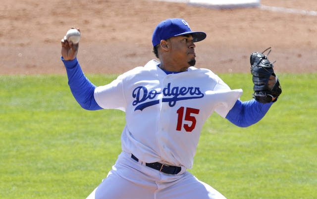 Oklahoma City's Jair Jurrjens pitched a strong game on Tuesday at Chickasaw Bricktown Ballpark. The former big leaguer helped the Dodgers blank Memphis, 6-0. [PHOTO BY STEVE GOOCH, THE OKLAHOMAN]