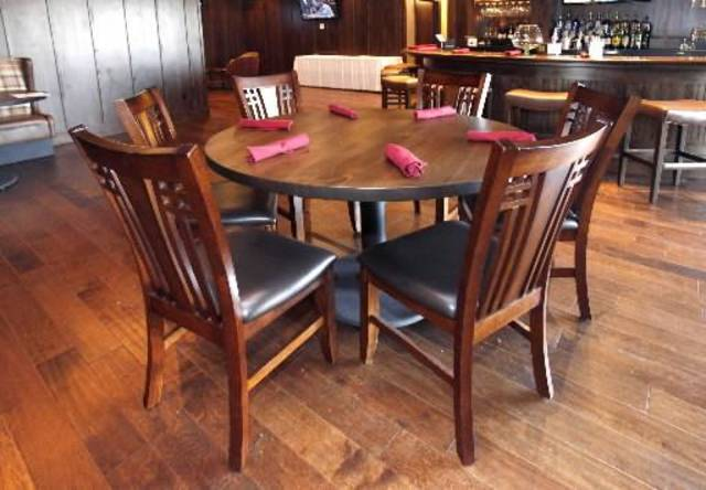 New Tables And Chairs Are Part Of The Newly Renovated Bar At Sportsmans Club In