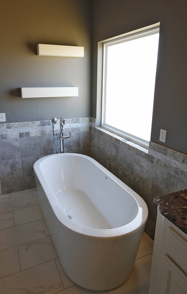 Cool The master bath of the House of Hope has an old style tub with the