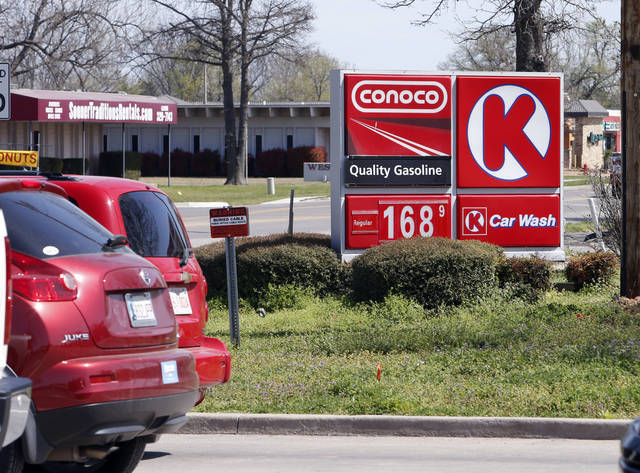 Gasoline prices are on the rise as seen on west Lindsay St. on Thursday